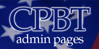 CPBT Admininstration Pages